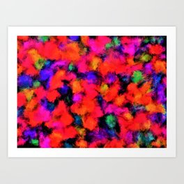 Bright Rainbow Colors Art Print
