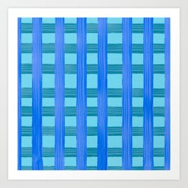 Blue raft Art Print