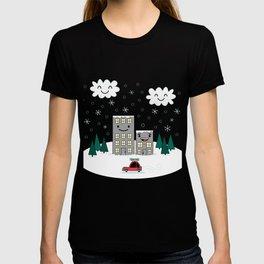 Kawaii Winter Town T-shirt