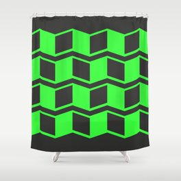 Jagged Green Shower Curtain