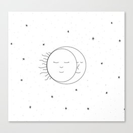 The Moon and Sun are One Canvas Print