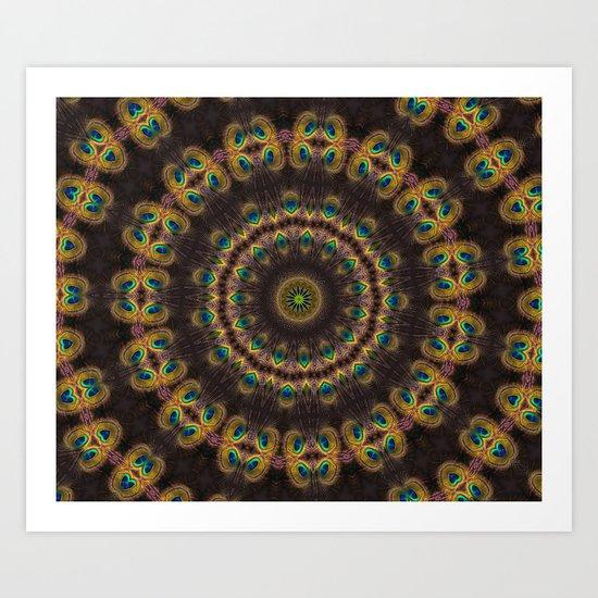 Peacock Velvet Art Print