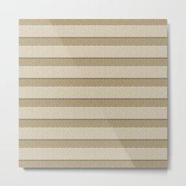 Gold Looking Textured Stripes Metal Print