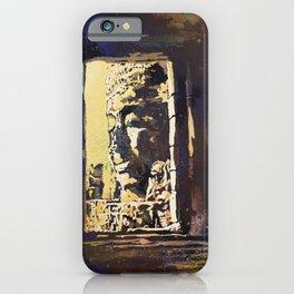 Temple of the Bayon at Angkor Wat ruins- Siem Reap, Cambodia iPhone Case