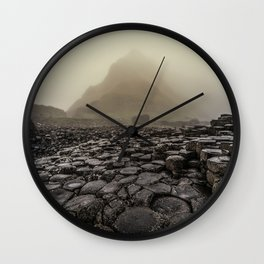 The land of mountains and stones Wall Clock