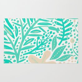 Garden – Mint & Cream Palette Rug