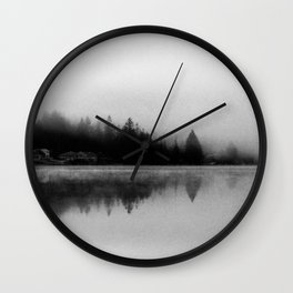 Mason Lake: Tree Line Wall Clock