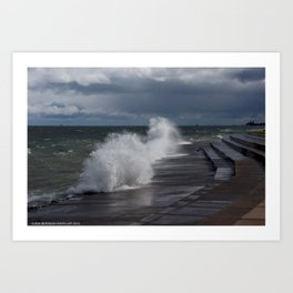 A Gale to Blow Out the Year (Chicago Waves Collection) Art Print