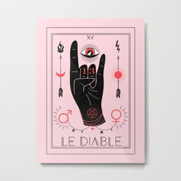 Le Diable or The Devil Tarot Metal Print