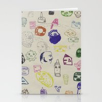 talking heads Stationery Cards featuring Heads by Craig Atkinson