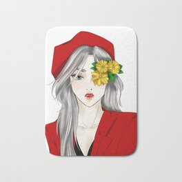 Hana with The Red Hat Bath Mat