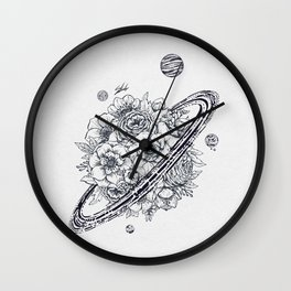 Flowery Planet. Wall Clock