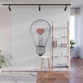 Lamp heart Wall Mural