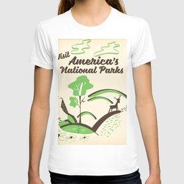 Visit America's National Parks vintage poster T-shirt