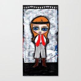 Little Pirate Girl #2 Canvas Print