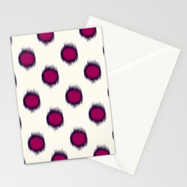 Ikat Dots Raspberry Plum Stationery Cards