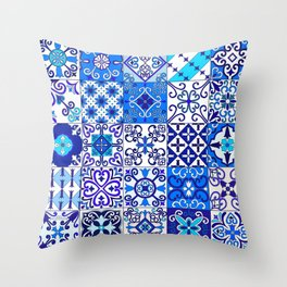 Moroccan Tile islamic pattern Throw Pillow