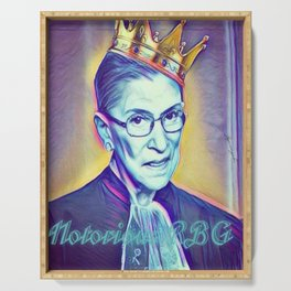Vintage Notorious RBG SUPREMES Ruth Bader Ginsburg Serving Tray
