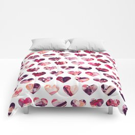 Crystal Hearts Pattern Comforters