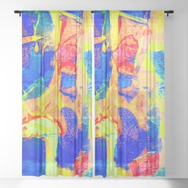 Expressionism Sheer Curtain