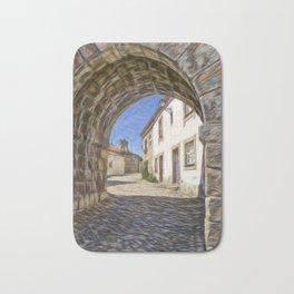 Medieval archway in Portugal Bath Mat