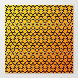 Yellow and orange stars pattern Canvas Print