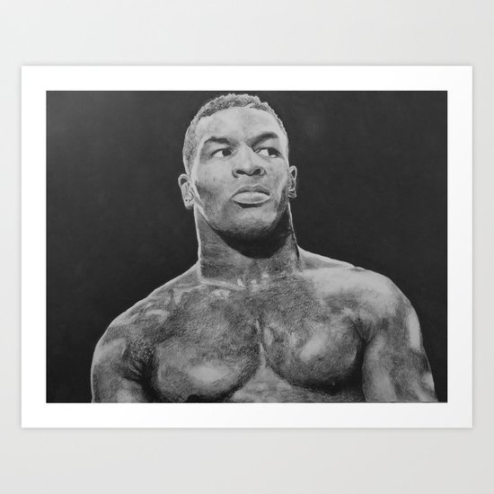 Mike Tyson (DRAWING) Art Print