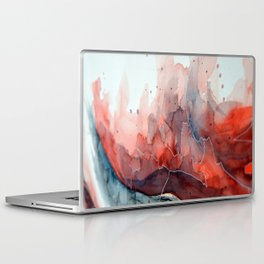 Watercolor red & blue TEXTURE Laptop & iPad Skin