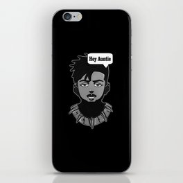 Hey Auntie - Killmonger iPhone Skin