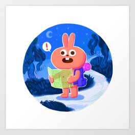 Ping the lost bunny Art Print