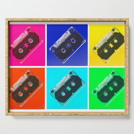 mixed tape Serving Tray