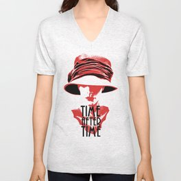 Time After Time Rouge Unisex V-Neck