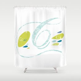 C-curl Shower Curtain