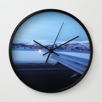 norway Wall Clocks featuring Tromso - Norway by Louise