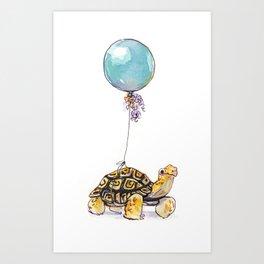 Birthday Tortoise Art Print