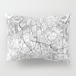 Jakarta White Map Pillow Sham