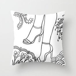 foot fetish stilettos lasoffittadiste Throw Pillow