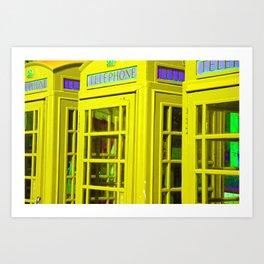 Phone Box - Sunshine Yellow Art Print