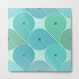Retro Striped Pattern 13 Metal Print