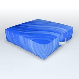 stripes wave pattern 3 c80 Outdoor Floor Cushion