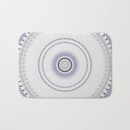 White and light Purple simple Mandala Design Bath Mat