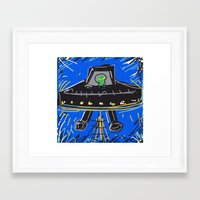 ufo Framed Art Prints featuring Ufo by Rimadi