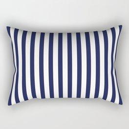 Navy Blue Sailing Stripe Pattern Rectangular Pillow