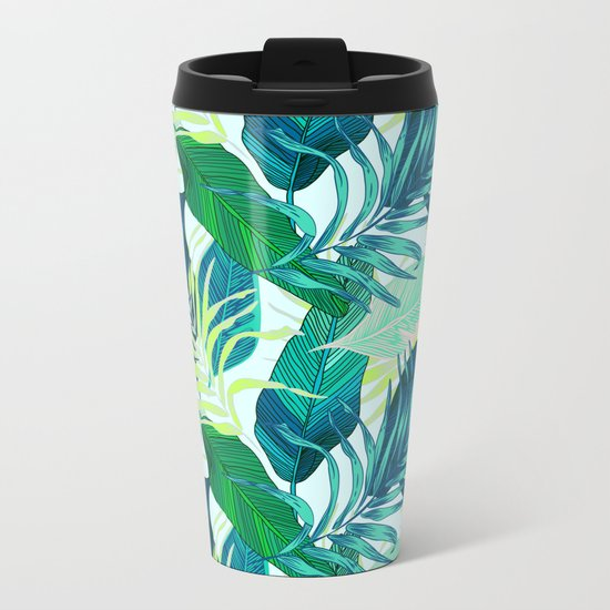 Tropical frenzy Metal Travel Mug