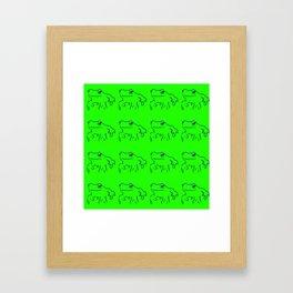 Green Frogs Framed Art Print