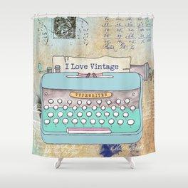 Typewriter #3 Shower Curtain