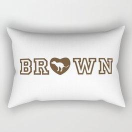 Love to Brown Dogs Rectangular Pillow
