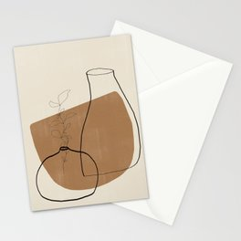 Vase Line Minimalistic Study No.3 Stationery Cards