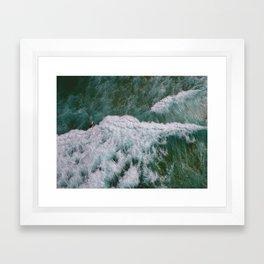 Surf Photography, Beach Wall Art Print, Ocean Water Surfing, Coastal Decor Framed Art Print