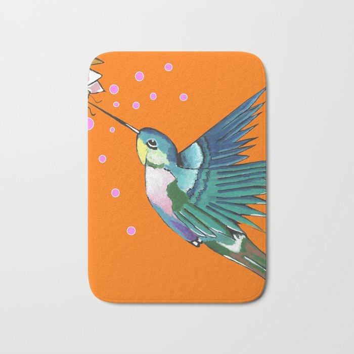 Hummingbird Orange Bath Mat